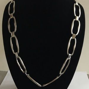NY & CO heavy silver link necklace